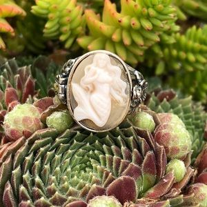 Jewelry - Mermaid Cameo Poison Sterling Ring